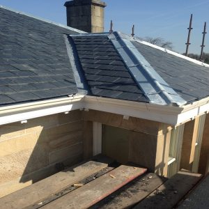 roof having lead work in scotland